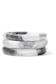 Wishbone set of three resin bangles