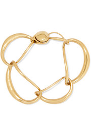Liquid Chain gold-plated bracelet