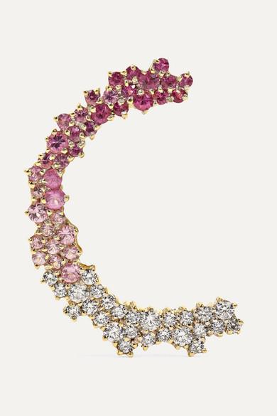 ANA KHOURI Marie 18-Karat Gold, Sapphire And Diamond Ear Cuff