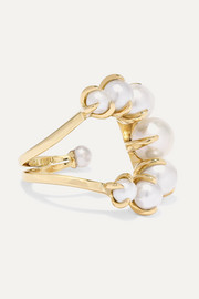 18-karat gold pearl ring