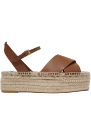 Ximena leather espadrille platform sandals