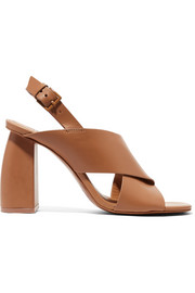 Hae leather slingback sandals