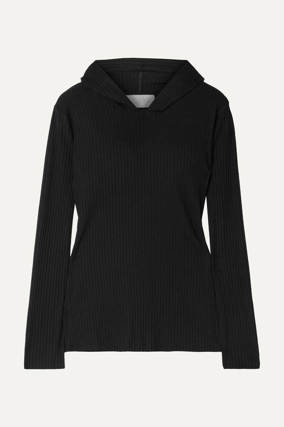 calé Angelique ribbed stretch-jersey hoodie