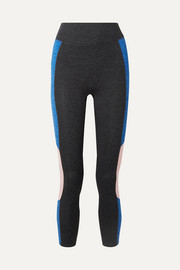 We/Me The Center cropped striped stretch-jersey leggings
