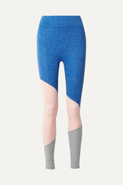 We/Me The Exhale color-block stretch-jersey leggings
