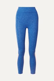We/Me The Sunrise cropped color-block stretch-jersey leggings