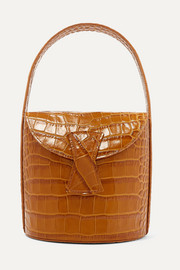 Nick croc-effect leather shoulder bag
