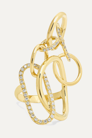 GAELLE KHOURI Qualia 18-Karat Gold Diamond Ring