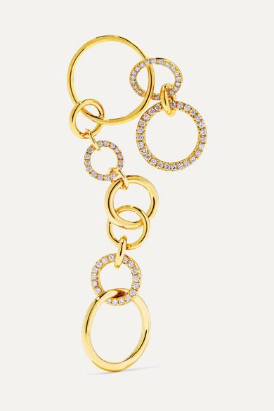 GAELLE KHOURI Nous 18-Karat Gold Diamond Earring