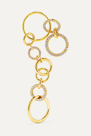 Nous 18-karat gold diamond earring