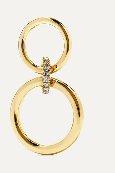 GAELLE KHOURI Logos 18-Karat Gold Diamond Earring