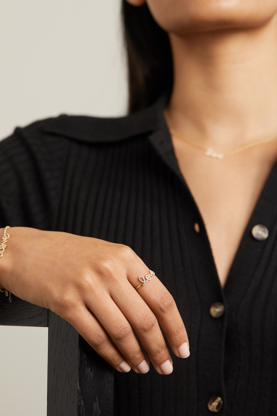 Sydney Evan Love 14-karat gold diamond ring