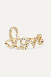 Large Love 14-karat gold diamond ring