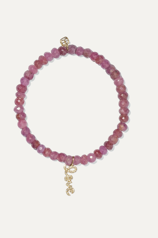 Sydney Evan Love sapphire, diamond and 14-karat gold bracelet