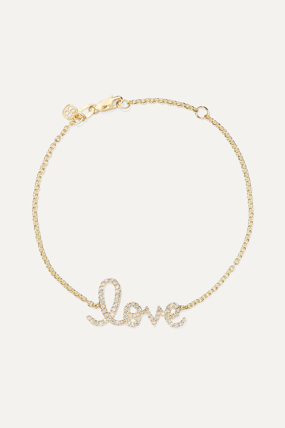 Sydney Evan Bracelet en or 14 carats et diamants Love Medium