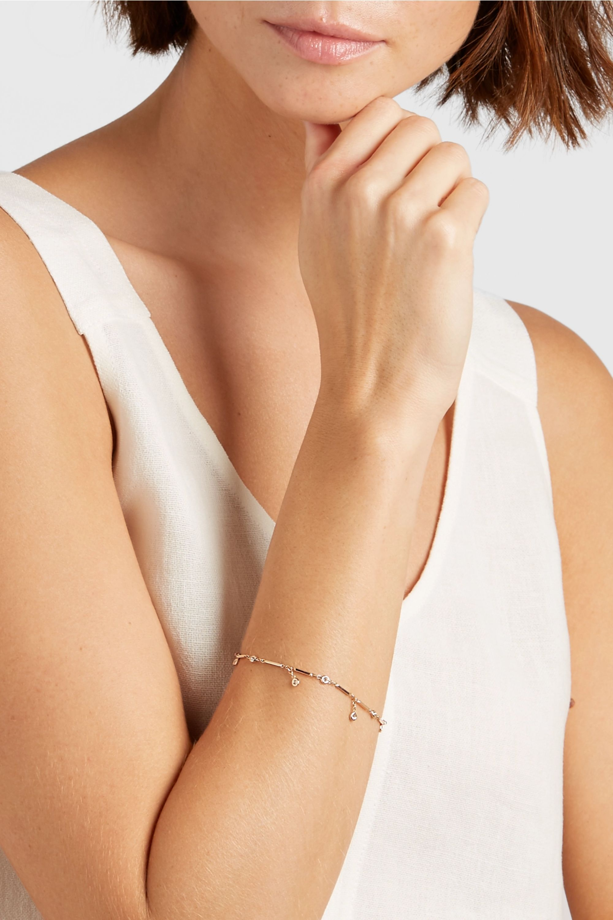 Jacquie Aiche 14-karat rose gold diamond bracelet