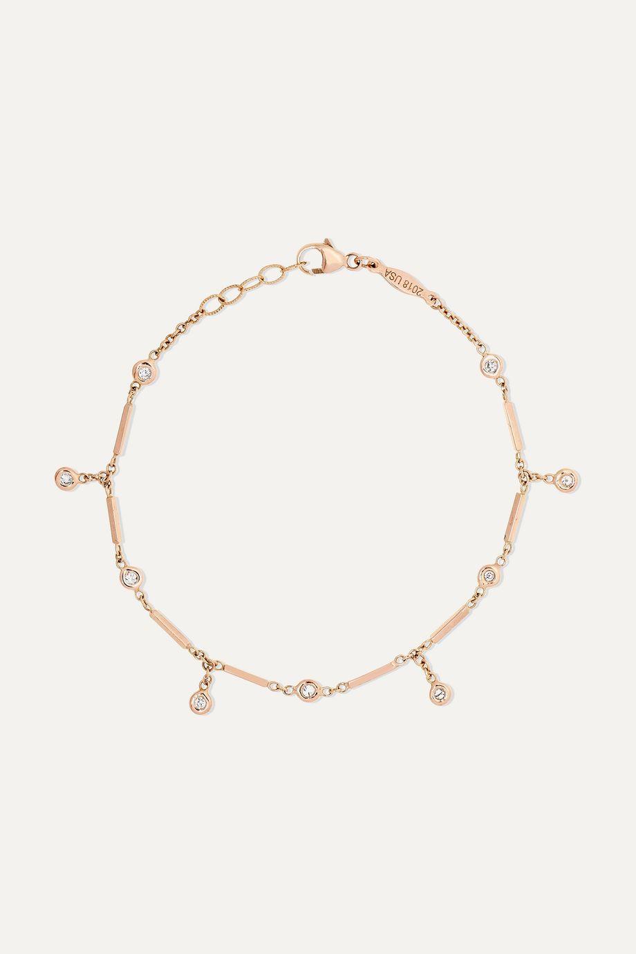 Jacquie Aiche 14-karat rose gold diamond bracelet