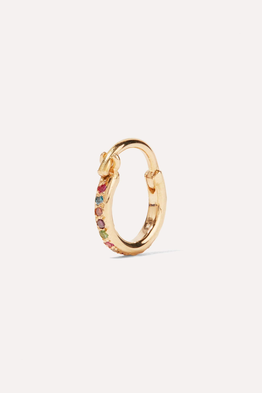 Gold Mini Rainbow 18-karat Multi-stone Earrings | Ileana Makri