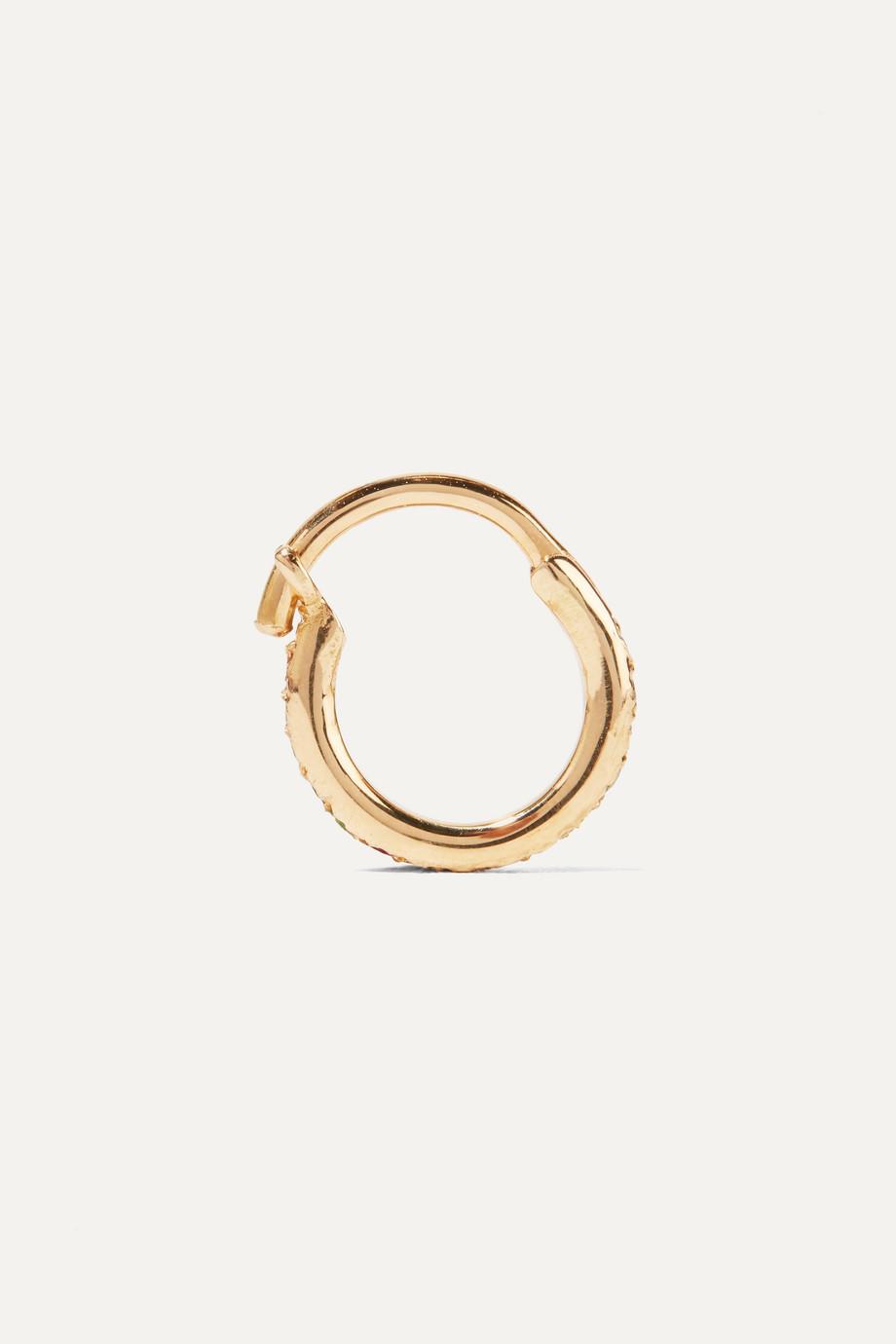 Ileana Makri Mini Rainbow 18K 黄金多种宝石耳环