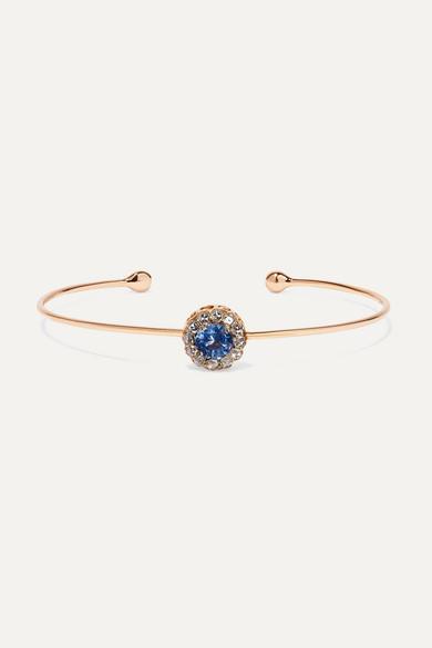SELIM MOUZANNAR 18-Karat Rose Gold, Sapphire And Diamond Cuff
