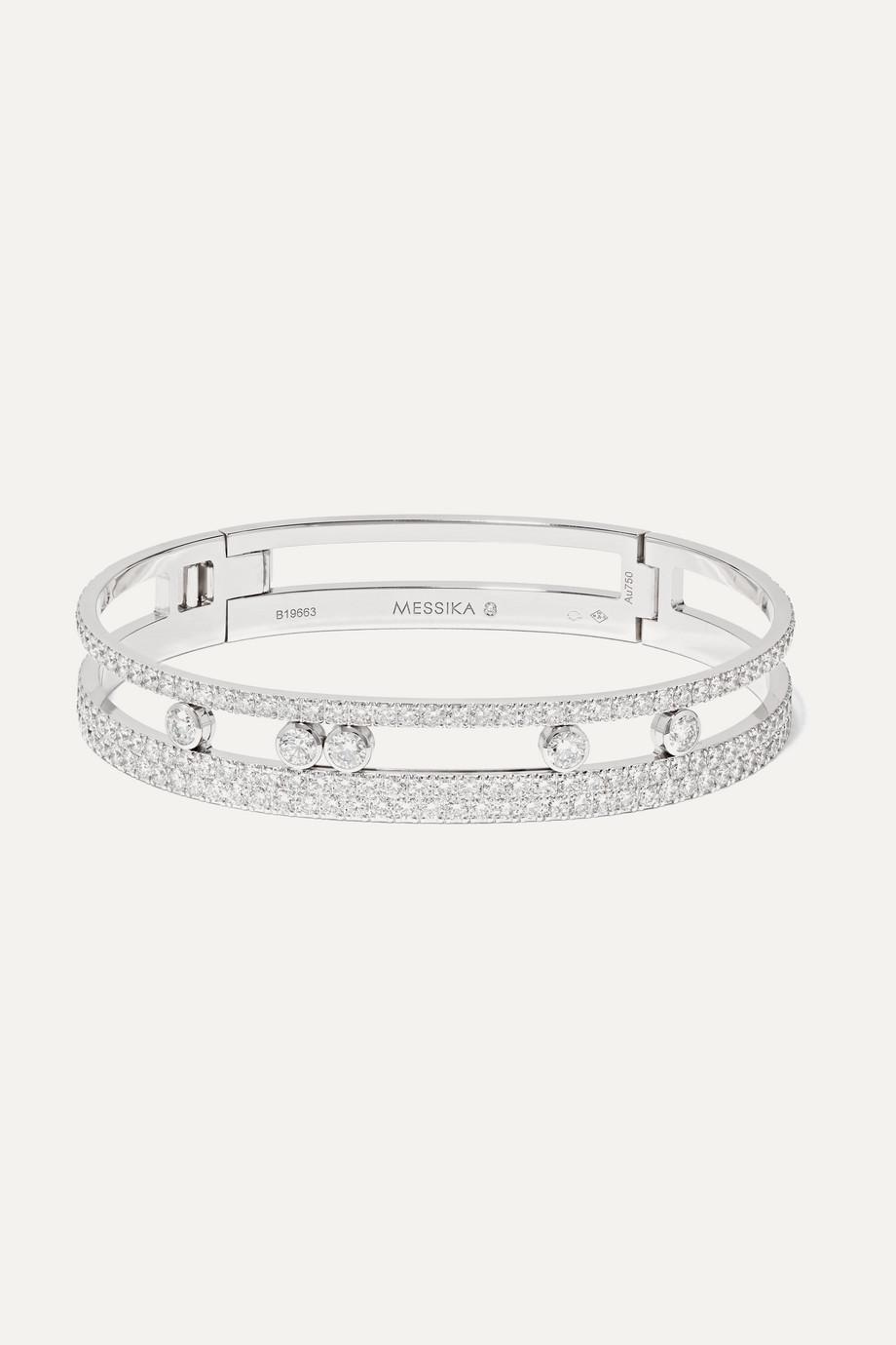 Messika Move Romane 18-karat white gold diamond bangle