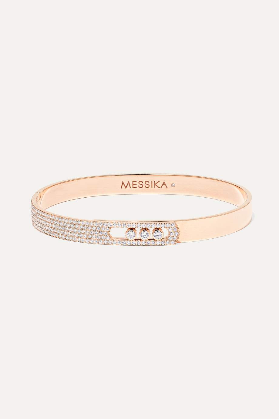 Messika Bracelet jonc en or rose 18 carats et diamants Move Noa