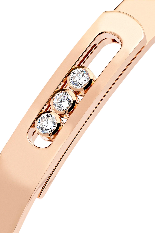 Messika Move Noa 18-karat rose gold diamond bangle