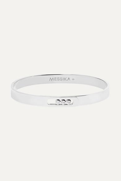 Messika MOVE NOA 18-KARAT WHITE GOLD DIAMOND BANGLE