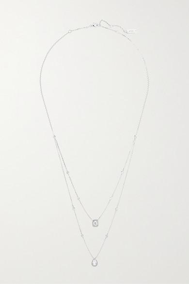 MESSIKA My Twin 18-Karat White Gold Diamond Necklace
