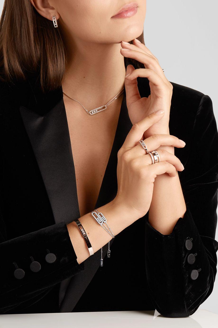 Messika Move Classic 18-karat white gold diamond bracelet