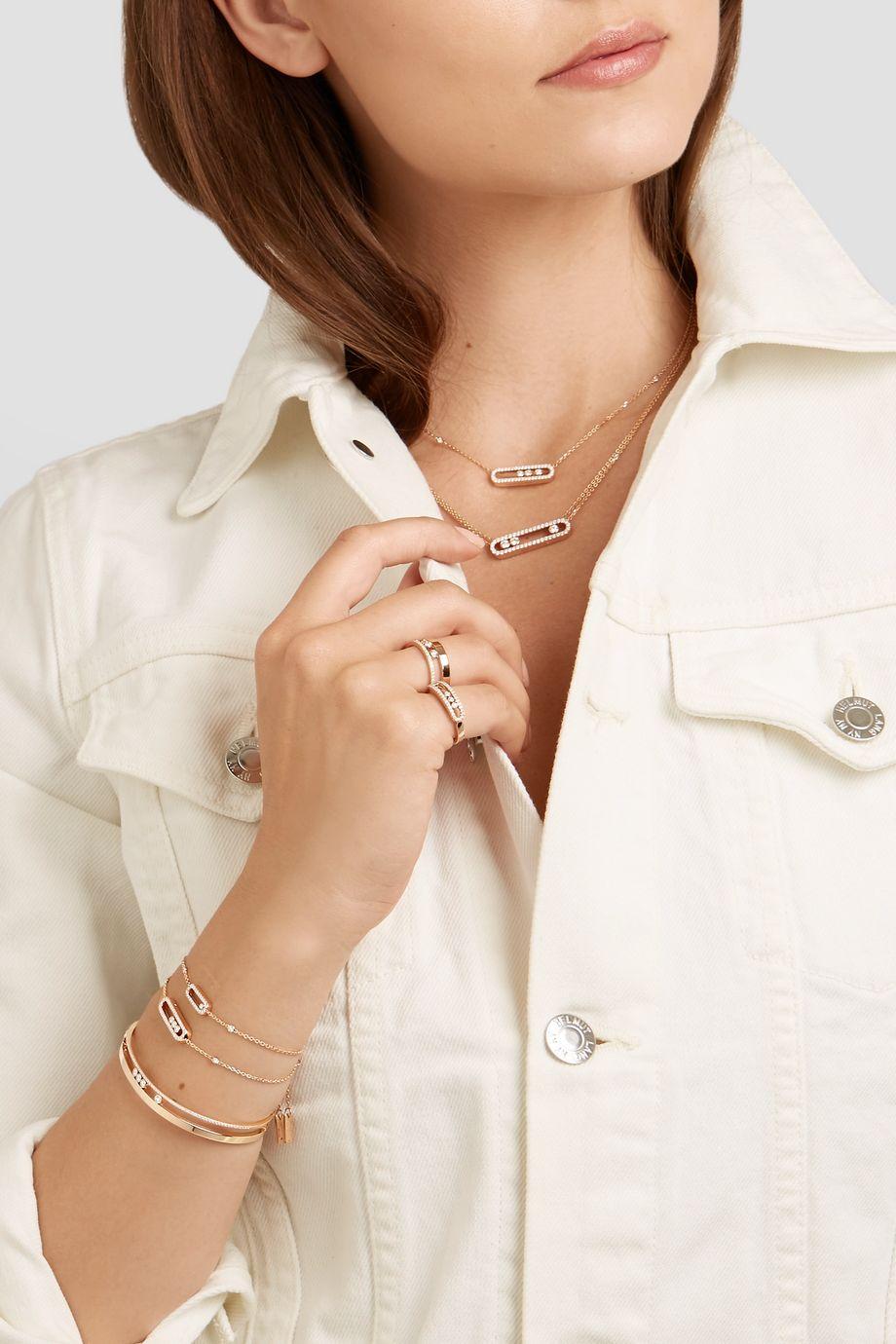 Messika Baby Move 18-karat rose gold diamond bracelet