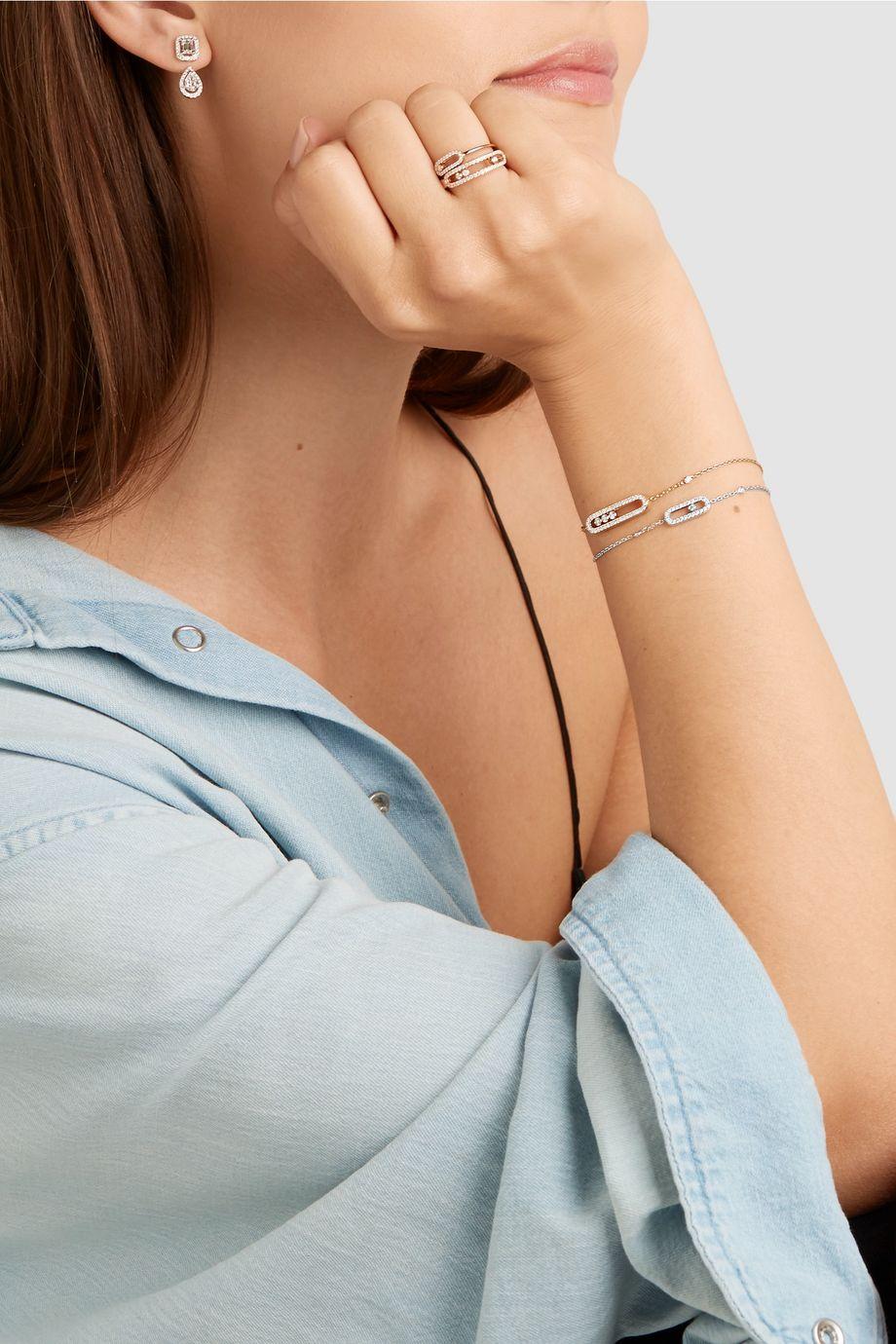 Messika Move Uno 18-karat white gold diamond bracelet
