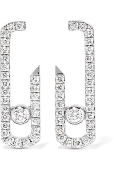 revendeur 20c3f cb01f Boucles d'oreilles en or blanc 18 carats et diamants Move Addiction x Gigi  Hadid