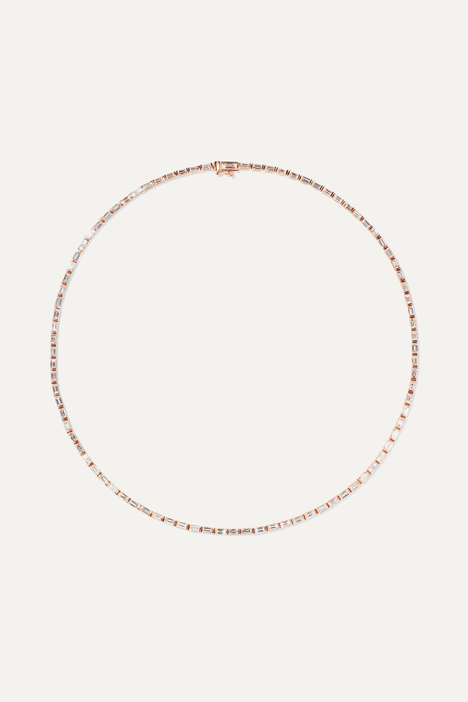 Anita Ko 18-karat rose gold diamond choker