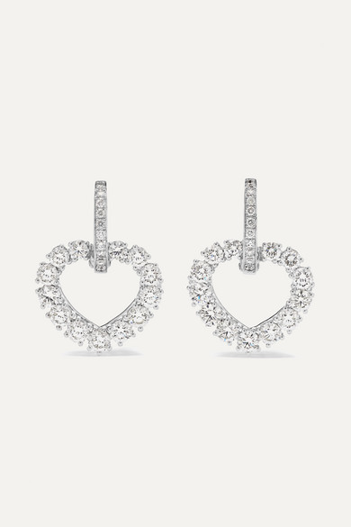Chopard L Heure Du Diamant 18 Karat White Gold Diamond Earrings Net A Porter Com
