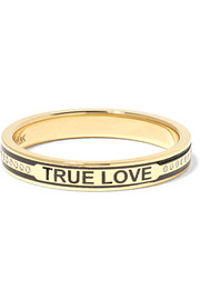 True Love 18-karat gold, diamond and enamel ring