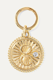 Karma 18-karat gold diamond pendant