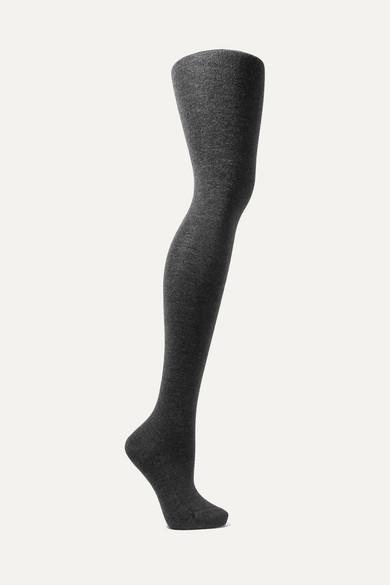 FALKE | Falke - Mélange Stretch Cashmere-blend Tights - Anthracite | Goxip