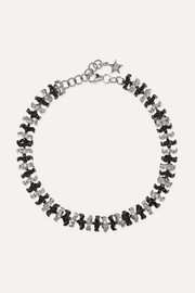 Ofira 18-karat blackened white gold diamond bracelet