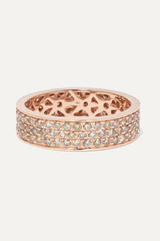 18-karat rose-gold diamond ring
