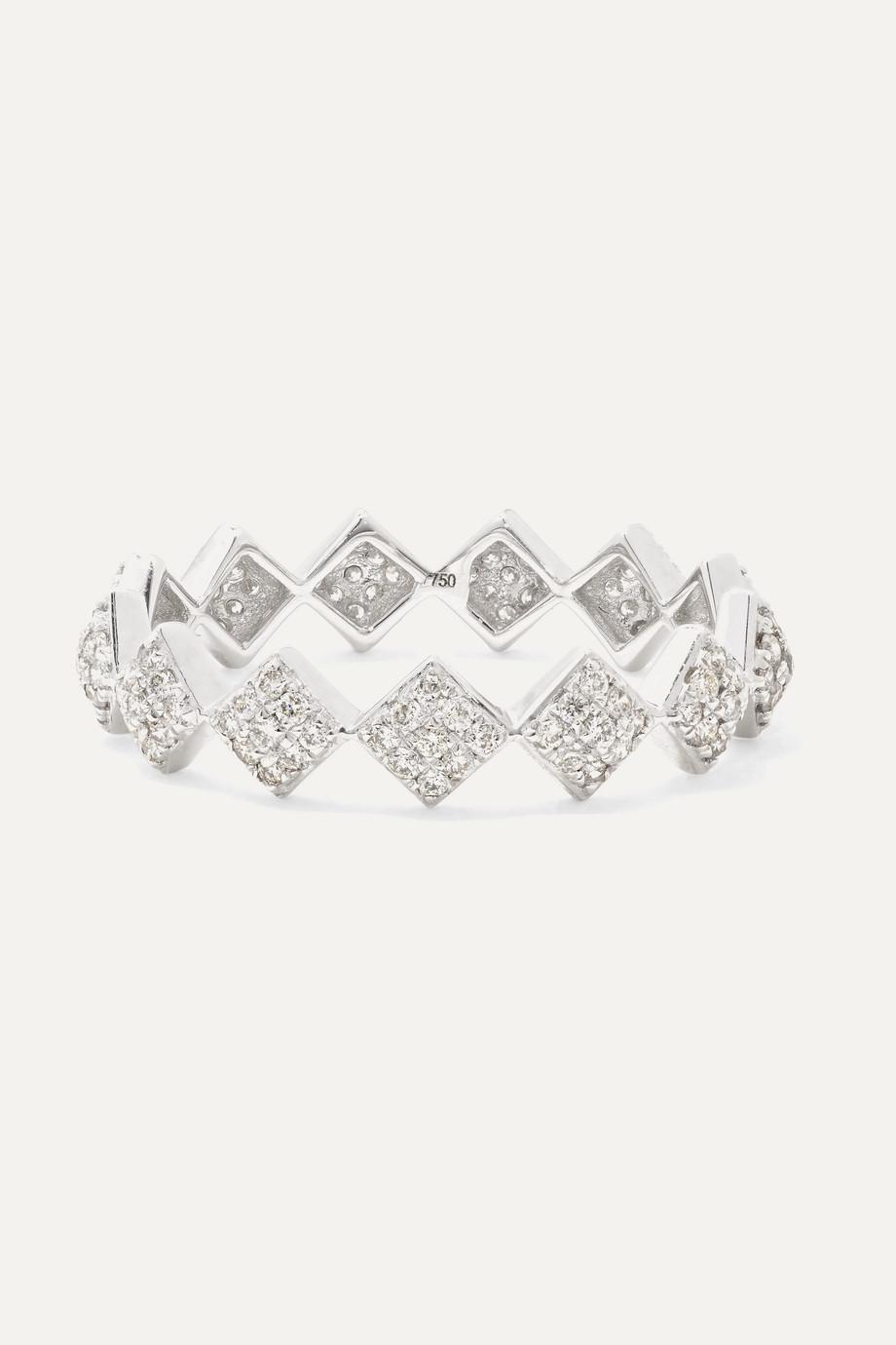 OFIRA Tattoo 18-karat white gold diamond ring