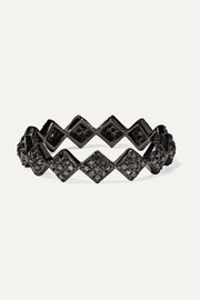 Ofira 18-karat blackened white gold diamond ring