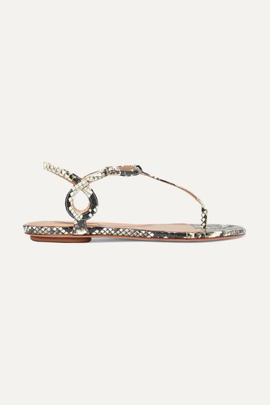 Aquazzura Sandals Almost Bare elaphe sandals