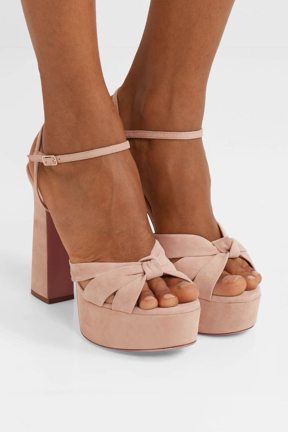 Aquazzura Baba Plateau 125 suede platform sandals