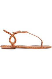 Almost Bare croc-effect leather sandals
