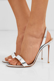 So Nude 105 metallic leather slingback sandals