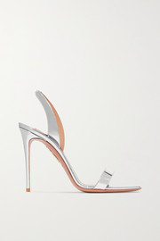 Aquazzura So Nude 105 metallic leather slingback sandals