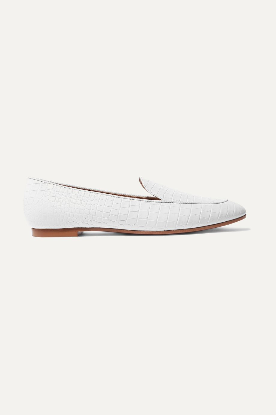 Aquazzura Purist croc-effect leather loafers