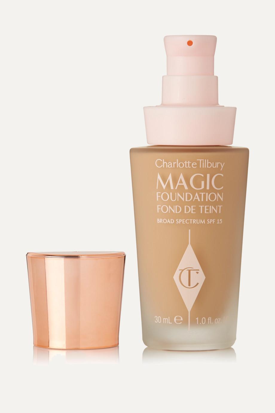 Charlotte Tilbury Fond de teint zéro défaut tenue longue durée Magic Foundation SPF 15, Nuance 6.5, 30 ml