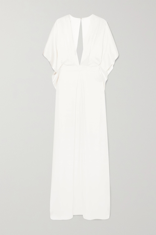 Temperley London Cape-effect silk-satin gown